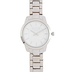Floozie by Frost French - Ladies silver plated slim bracelet watch
