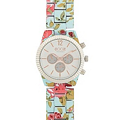 Floozie by Frost French - Ladies aqua floral mock chronograph watch