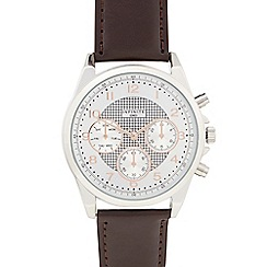 Infinite - Gents brown mock multi dial watch