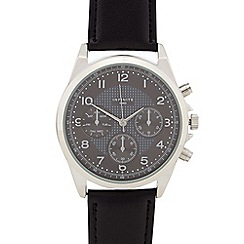 Infinite - Gents black mock multi dial watch