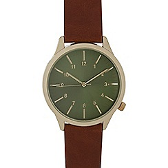 Red Herring - Men's brown analogue watch