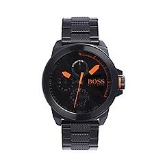 Boss Orange - Men's black chronograph bracelet watch 1513157