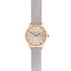 Principles - Ladies grey leather analogue watch