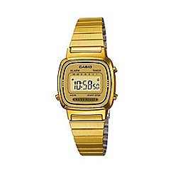 Casio - Unisex gold dial lcd watch la670wega-9ef