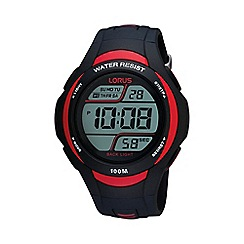 Lorus - Men's black and red digital watch r2307ex9
