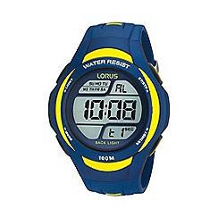 Lorus - Men's blue and yellow digital watch r2339ex9