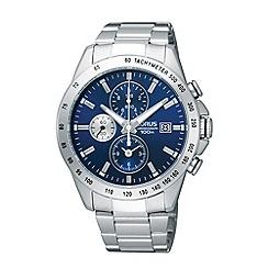 Lorus - Men's stainless steel blue chronograph dial bracelet watch rf851dx9