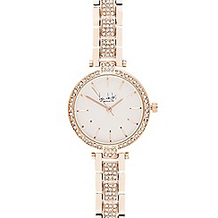 Principles - Ladies rose gold plated crystal analogue watch