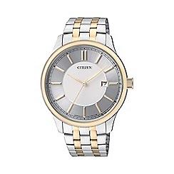 Citizen - Men's two tone stainless steel watch BI1054-55A