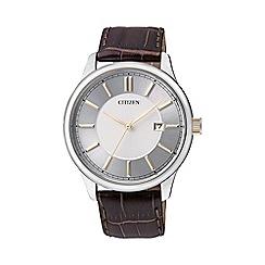Citizen - Men's silver strap watch BI1054-04A