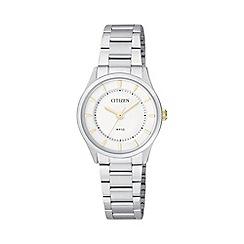 Citizen - Ladies stainless steel watch ER0201-56B