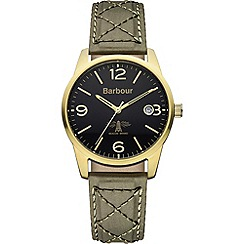Barbour - Men's black dial QA strap watch bb026grgr