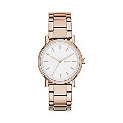DKNY - Ladies rose gold 'soho' analogue watch ny2344