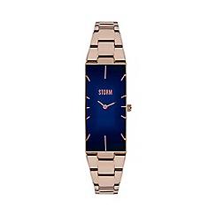 STORM London - Ladies blue curved glass bracelet watch ixia rg/blue
