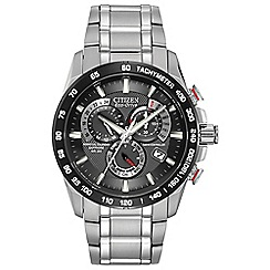 Citizen - Men's silver calendar feature watch at4008-51e
