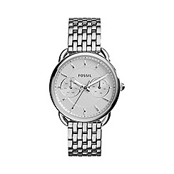 Fossil - Ladies silver 'tailor' stainless steel watch es3712