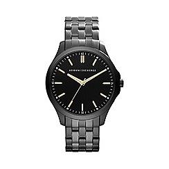Armani Exchange - Men's gunmetal and black bracelet watch ax2144