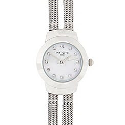 Infinite - Ladies silver mesh split strap multi dial watch