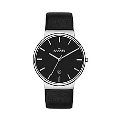 Skagen - Gents black strap watch skw6104