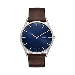 Skagen - Gents brown strap watch skw6237