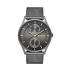 Skagen - Gents grey chronograph mesh strap watch skw6180