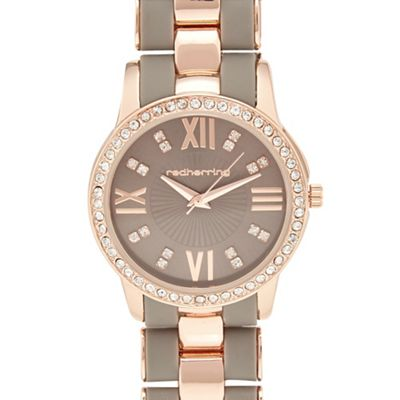 Red Herring Rose gold bracelet analogue watch | Debenhams