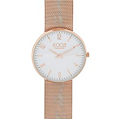 Floozie by Frost French - Ladies rose gold plated mesh strap analogue watch