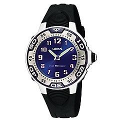 Lorus - Kids' black blue dial sports watch rg235gx9