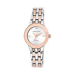 Anne Klein - Ladies rose and silver diamond bracelet watch ak/n1931svrt