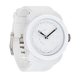 Diesel - Men's 'Double Down' white dial & silicone bracelet watch dz1436
