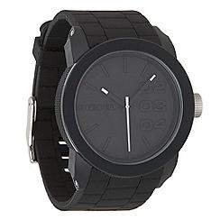 Diesel - Men's 'Double Down' black dial & silicone bracelet watch dz1437