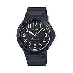 Casio - Unisex core black analogue watch mw-240-1bvef
