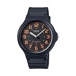 Casio - Unisex core black and orange watch mw-240-4bvef