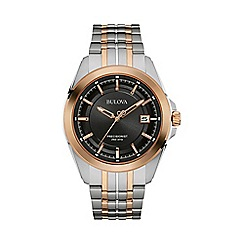 Bulova - Men's bi colour 'Precisionist' multi link watch 98b268