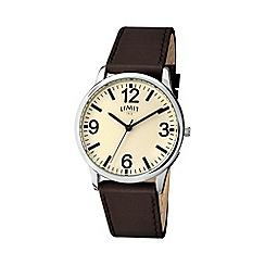 Limit - Men's brown strap watch 5614.02