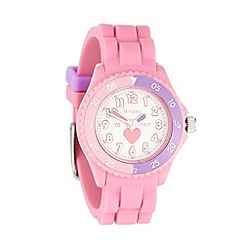 Tikkers - Kids' pink heart dial watch tk0003