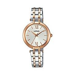 Lorus - Women's two tone dress bracelet watch rg288kx9
