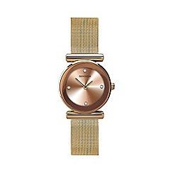 Sekonda - Ladies rose gold mesh sunray watch 2301.28