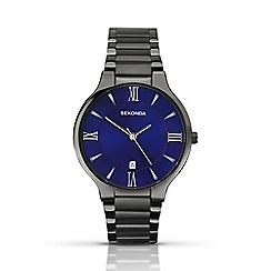 Sekonda - Men's gunmetal blue watch 1140.28