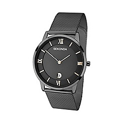 Sekonda - Men's black gunmetal mesh bracelet watch 1187.28