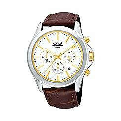Lorus - Men's brown strap chronograph watch rt383ax9