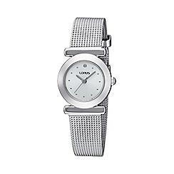 Lorus - Ladies silver mesh strap bracelet watch
