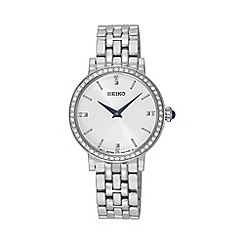 Seiko - Ladies Silver quartz bracelet watch sfq811p1