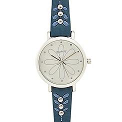 Mantaray - Navy petal analogue watch