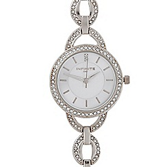 Infinite - Ladies silver oval link watch