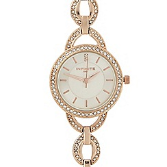 Infinite - Ladies rose gold oval link watch