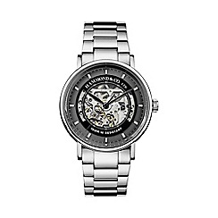 Hammond & Co. by Patrick Grant - Men's silver skeleton watch