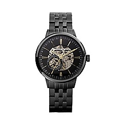 Hammond & Co. by Patrick Grant - Men's black skeleton watch