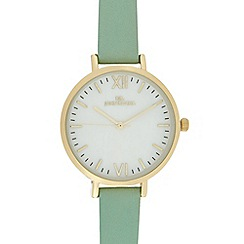 RJR.John Rocha - Ladies pale blue leather strap round watch