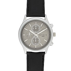 Infinite - Men's dark grey mock multi-dial watch